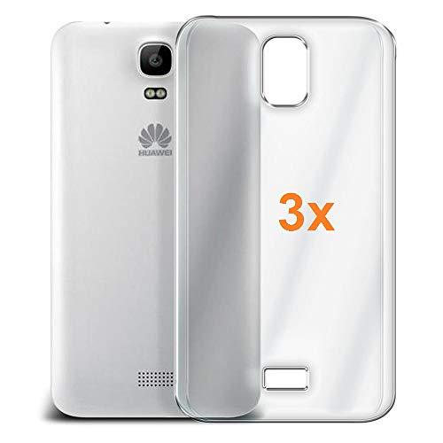 REY Pack 3X Transparente Silikonhülle TPU für Huawei Y3 - Y360, Handyhülle Premium Kratzfest TPU Durchsichtige Schutzhülle, Ultradünne 0,33 mm