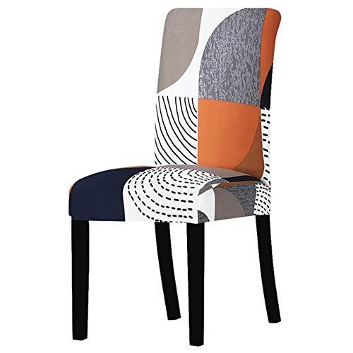 YAYANG Chair Cover Blumendruck Stretch Stuhlabdeckung Sitz Esszimmerstuhl deckt Protector Slipcover Hotel Bankett Esszimmer Hochzeitsdekoration Casual (Color : K348, Specification : Universal Size)