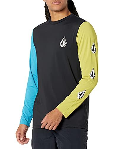 Volcom - Maglietta da uomo a maniche lunghe, vestibilità morbida, con protezione UPF 50+, Multi, Small