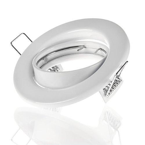 Sweet Led Cadre de montage blanc, pivotant pour LED et halogène y compris douille GU10