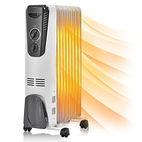 Electric Heater 1500W Oil Filled Oil Radiant Thermostat Room Radiator Heater Finns SunnyHome 5.7 for Warmth and Comfort of Your Home and Office