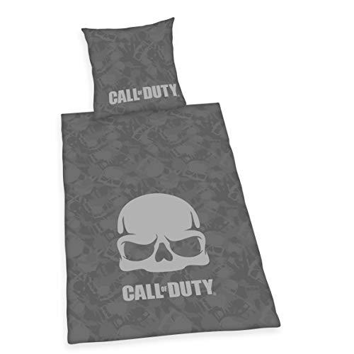 Herding Call of Duty - Juego de Cama (algodón, 135 x 200 cm), Color Gris