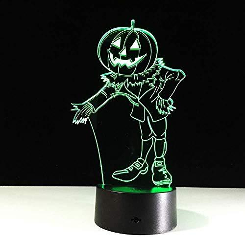 Halloween Kostüme Kürbisse 3D Nachtlicht Acryl Visual Led Usb Schreibtisch Tischlampe Für Home Atmosphere Lampe Baby Sleep Lighting