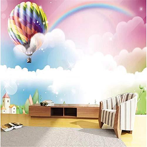 Fototapete Wandbild Hintergrund 3d TapetenPapel De Parede 3D Cartoon Ballon Regenbogen Niedliche Wandbilder Tapete Kinder Kinderzimmer Wohnkultur Hintergrund Wandmalerei 3 D.-Über 150 * 105 cm
