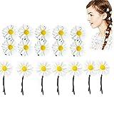 Dancepandas Daisy Haarschmuck 40PCS Gänseblümchen Haarspange Weiß klein Blumen Haarspange Boho Hochzeit Brauthaarschmuck Blumen für...