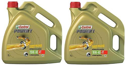 Castrol POWER 1 4T 10W-40 semi-synthetische motorfiets motorolie, 8 liter