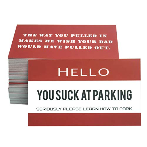 RXBC2011 Gag Gifts for Bad Parking You suck at Parking Business Cards Pack of 100