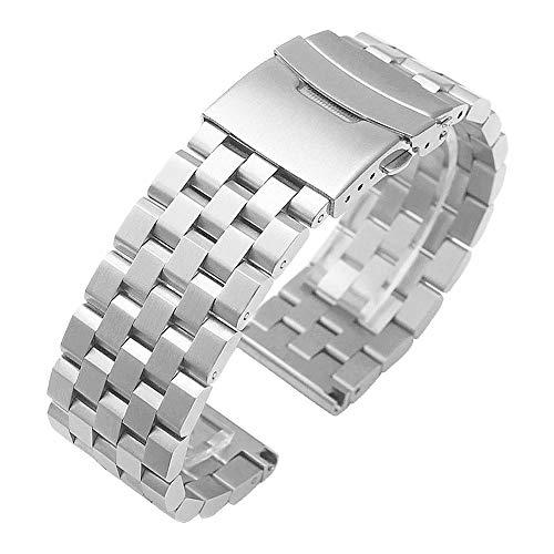 Kai Tian Compatible para Samsung Galaxy Watch Active 40mm Correa de reloj de acero inoxidable de liberación rápida para Samsung Watch Strap 20mm Active 2 Plata