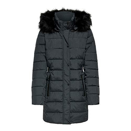 Only Onlluna Quilted Coat CC Otw Abrigo, Gris Oscuro, XS para Mujer