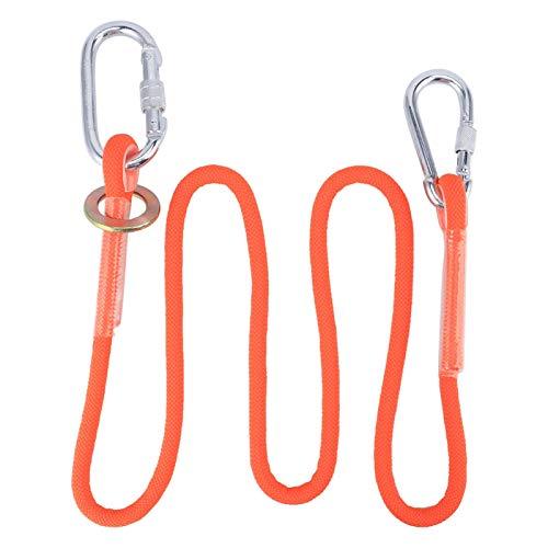 Cuerda de seguridad, hebilla pequeña de 1,6 m, cuerda de cinturón de seguridad para trabajo aéreo, cordón para seguro de construcción al aire libre