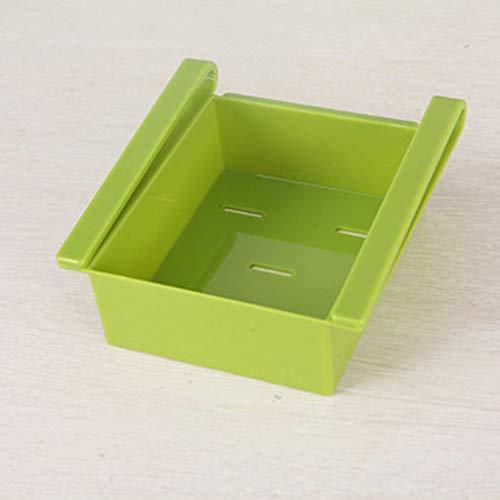 Contenedores de Alimentos Clasificados Organizador de estantes ordenados 16,2 * 12 * 7 cm Cajas de Almacenamiento de cajones Almacenamiento en frigorífico Verde