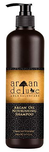 Argan Deluxe Shampoo in Friseur-Qualität 500 ml - stark pflegend mit Arganöl für Geschmeidigkeit und Glanz - ADLX Saloncare