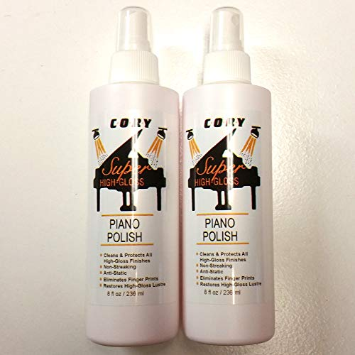Cory Super High Gloss Piano Polish Value Pack - Two 8 oz bottles