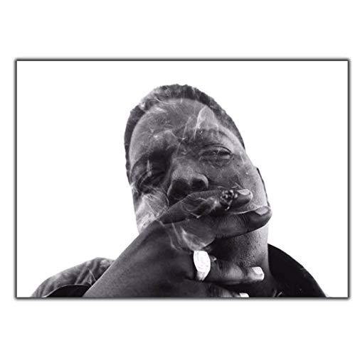 MZCYL Leinwand Malerei Wandkunst Bild Notorious Big Biggie Smalls Rauchen Poster Drucken Leinwand Malerei Ohne Rahmen 40 * 60 cm
