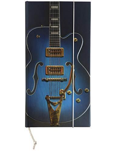 Notizbuch Rock Blau Gitarre blanko Innenseiten