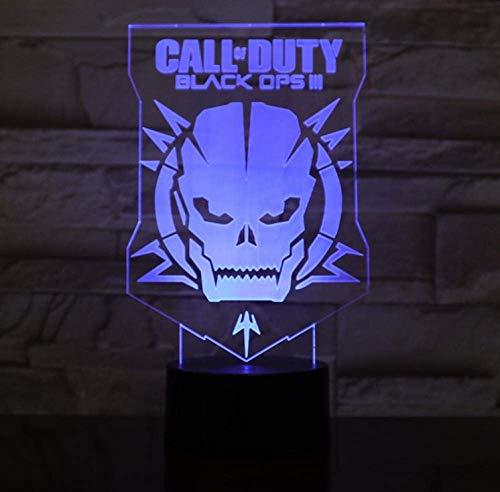 Luces de noche 3D Máscara de Call of Duty Faros de cama...