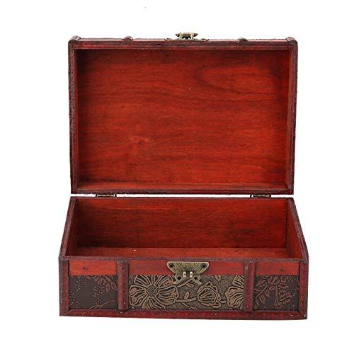 SUCIE Organizador de Almacenamiento, Caja de Almacenamiento Cerradura de Hierro para Joyas o Libros para el hogar y la Oficina(Lotus with Lock, 12)