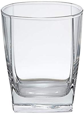 AmazonBasics Serene Old Fashioned Glass Drinkware Set, 13-Ounce, Set of 6