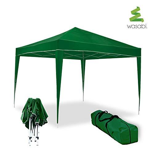wasabi Carpa Plegable 3x3m Classic Verde de jardín, terraza