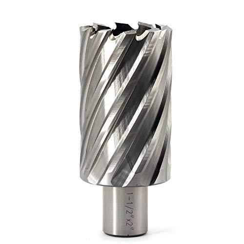 "Steel Dragon Tools® 1-1//8/"" x 1/"" HSS Annular Cutter with 3//4/"" Weldon Shank"