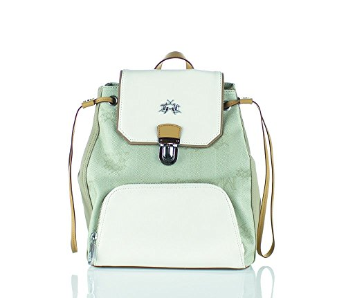 Borsa Zaino Donna Beige/Bianco La Martina Bag Backpack Woman Beige/White Lady ss16 010