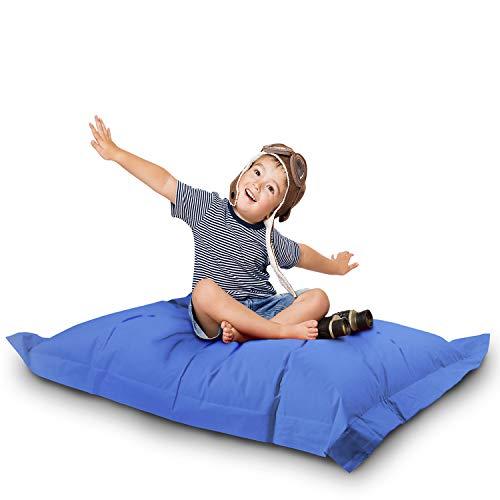 Lazy Bag Original Indoor & Outdoor Sitzsack XL 250 Liter Riesensitzsack Junior-Sitzkissen Sessel für Kinder & Erwachsene 160x120 (Blau)