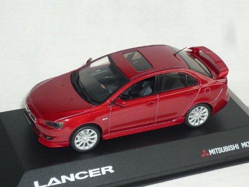 Vitesse Mitsubishi Lancer Limousine Rot Mit Spoiler Und Frontlippe Ab 2007 8. Generation Cyo 1/43 Modell Auto Modellauto