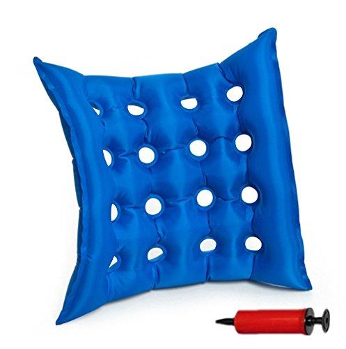 SZETOSY Goodchanceuk Medizinische aufblasbare Matratze – Mobilität, aufblasbares Kissen, 40 x 40 cm, PVC, Anti-Dekubitus, Luftsitzmatte für längeres Sitzen – Rollstuhl mit kostenloser Pumpe, Blau