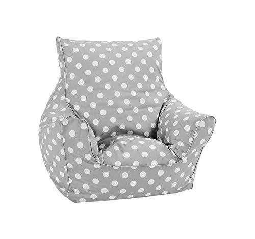 Knorrtoys 68204 - Kinder Sitzsack Dots beige