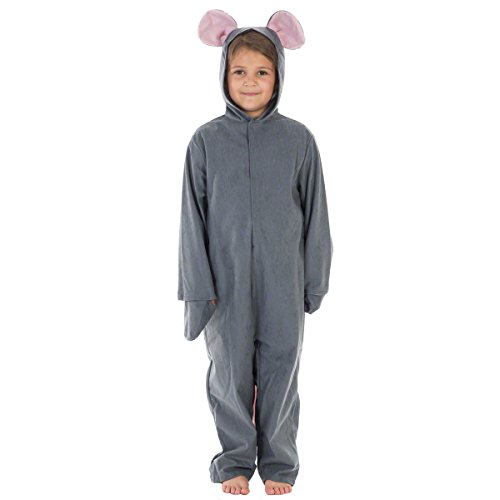 Charlie Crow Graue Maus Kostüm für Kinder 7-9 Jahre.