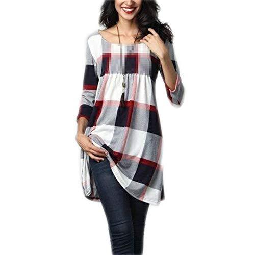 WXHNZYQ OtoñO E Invierno Camiseta Estampada De Longitud Media Mujer