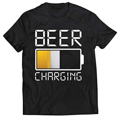 lepni.me Camisetas Hombre Carga de Cerveza, Citas Divertidas, Humor de Bar para Amantes de la Cerveza (XXX-Large Negro Multicolor)