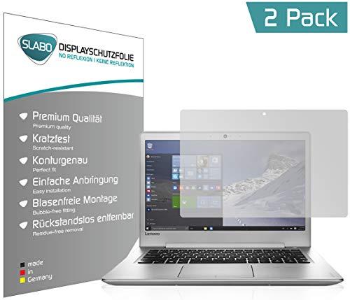 Slabo 2 x Bildschirmschutzfolie für Lenovo IdeaPad 510s (35,6 cm 14,0 Bildschirmschutz Schutzfolie Folie No Reflexion Keine Reflektion MATT - Entspiegelnd Made IN Germany