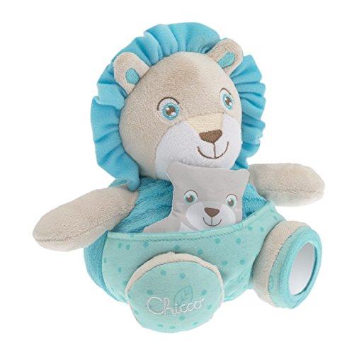 Chicco - Soft Cuddles Pupazzo, Leone, Azzurro, 7706