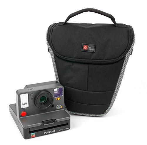 Duragadget - Funda de transporte para cámara de fotos instantánea Polaroid One Step 2, One Step 2 ViewFinder 9009/9008, One Step+ 9010/9015 y accesorios (incluye correa para el hombro)