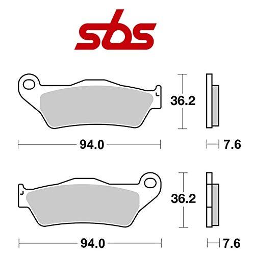 Compatible con Husqvarna FC 4T 450 2014-2020 PASTIGLIA Freno anteriore Pastillas DE Freno SBS 151HF CERÁMICO