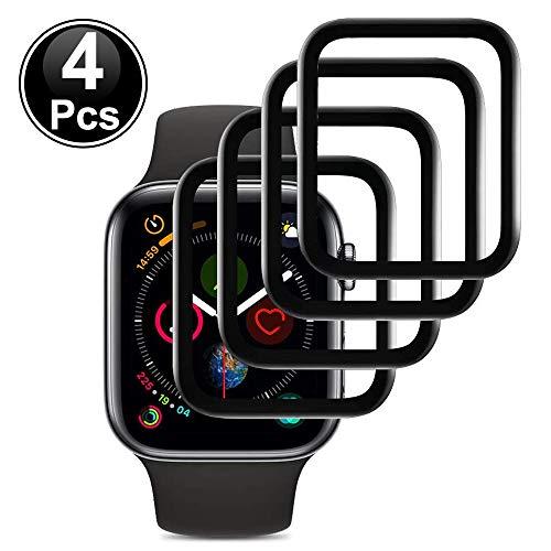 Ash-case【4 Piezas Protector de Pantalla de Vidrio Templado para Apple Watch 40mm Series 5 und Series 4 [Anti-Oil], [Anti-Bubble], [3D Full Cover], [Anti-Scratch]