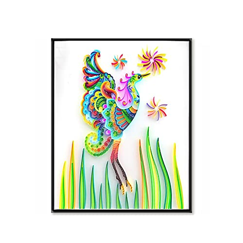 Vogelpapier Filigraan Schilderij, Papier Filigraan Verf Unieke Handgemaakte Ambacht Voor Muur Decor, 3D Papier Filigraan…