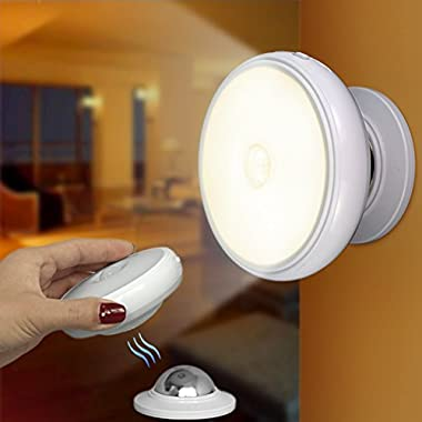 Motion Sensor Wireless Indoor Night Light, Rechargeable Wall Motion Sensing LED Lights Stick Anywhere for Kids,Bedroom,Stairs,Kitchen,Patio,Hallway,Bathroom,Cabinet,Closet