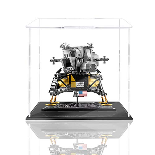 Gettesy Acrilico Teca Compatibile con Lego 10266 NASA Apollo 11 Ferrovia lunare, A Prova di Polvere Vetrina in Acrilico Acrylic Display Case (Non Incluso Modello)