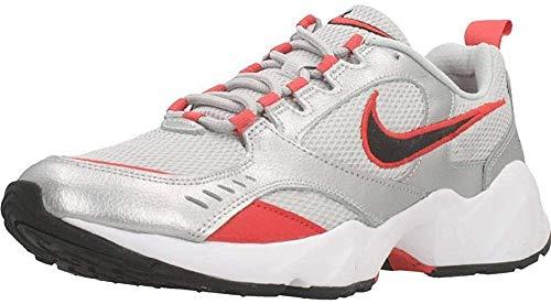 Nike Air Heights, Running Shoe Mens, Grey Fog/Negro/Metallic Silver/Track Red, 42 EU