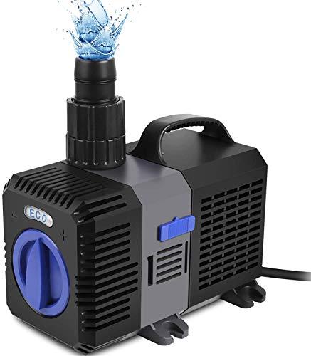QianQi ECO Teichpumpe Filterpumpe Energiespar Wasserpumpe Bachlaufpumpe (6000L/H)