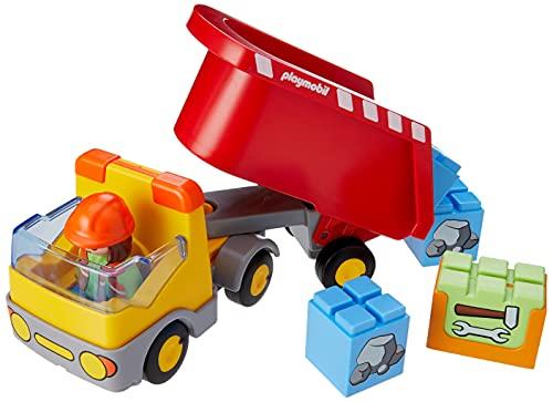PLAYMOBIL 1.2.3 Camión de Construcción, A partir de 18 meses (70126)