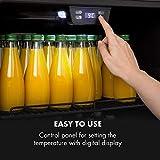 Klarstein Beersafe 7XL Getränkekühlschrank - Kühlschrank, 242 L für bis zu 357 Getränkedosen, 5 Metalleinlegeböden, Glastür, freistehend, Bodenrollen, Edelstahlfront - 9