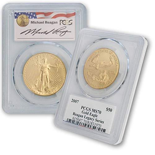 2007 American Gold Eagle Reagan Legacy Series $50 MS70 PCGS