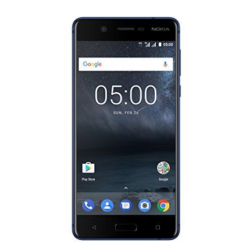 Nokia 5 Smartphone (13,2 cm (5,2 Zoll), 16GB, 13 Megapixel Kamera, Android 7.0, Dual Sim) Satin-temperiertes-Blau, version 2017