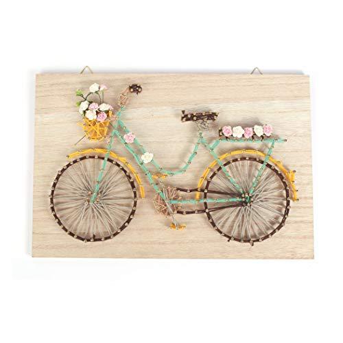 String Art Bastelset - Fahrrad - Fadenkunst Bastelset 20 x 30 cm