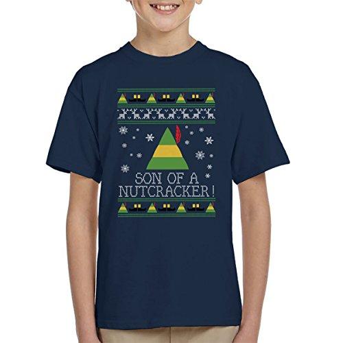 Zoon van een notenkraker Elf Citaat Kerstmis Knit Kinder T-Shirt