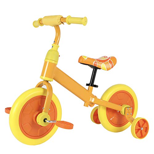 UROK 12Inch Balance Bike with Pedal Adjustable Seat & Handlebar 2in1 Kids...