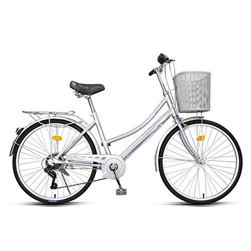 26/24 Pulgadas Bicicleta Plegable Para Adultos, Trabajo Ligero Para Mujer Adulto Ultra Ligero Variable Variable Velocidad Portátil Pequeño Estudiante Pequeño Bicicleta Portador Portador Bicicleta Con